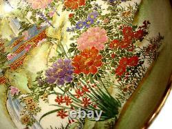 11 1/4 MARKED Nishida JAPANESE TAISHO PERIOD KOBE SATSUMA SCALLOPED BOWL