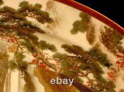 16 1/4 MARKED Kamiyama JAPANESE MEIJI PERIOD SATSUMA OVAL PLATE
