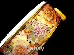 5 1/2 D MARKED Satsuma Gyozan JAPANESE TAISHO SATSUMA THOUSAND FLOWER BOX