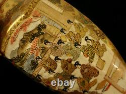 6 H MARKED Hododa JAPANESE MEIJI PERIOD SATSUMA OCTAGON SHAPE MIRROR PAIR VASE