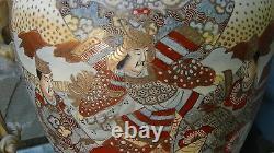 ANTIQUE 19c JAPANESE MEIJI SATSUMA IMPRESSIVE 3 FOO-LIONS, 3 LEGS INCENCE BURNER