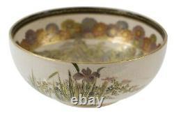 An super-elegant Japanese Satsuma bowl, Senzan, Meiji period