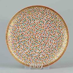 Antique 19c Satsuma Dish. Fabulous quality Japanese Porcelain Japan Marked Base
