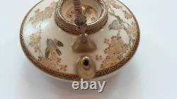 Antique Japanese SATSUMA 1.75 Miniature Teapot / Sake Pot, Signed