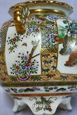 Antique Japanese Satsuma censer (koro) by Shuzan