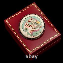 Antique Vintage Nouveau Sterling Silver Japanese Satsuma Porcelain Pin Brooch