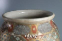 Double Gourd Asian Japanese Satsuma Vases Meiji Period LARGE 12