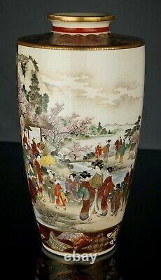 Exceptional Satsuma Vase by Okamoto Ryozan