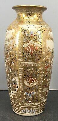 Fine Japanese Meiji Satsuma Vase with Festival