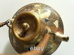 Gorgeous Signed Antique Japanese Miniature Satsuma Teapot Meiji