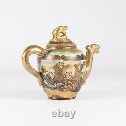 Japanese Satsuma Teapot Immortals