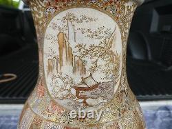 Large Highly Detailed Japanese Meiji Period Imperial Satsuma Vase