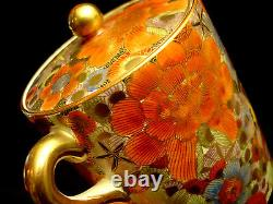 MARKED Nikko JAPANESE MEIJI THOUSAND FLOWER SATSUMA TEA POT / DEMITASSE SET