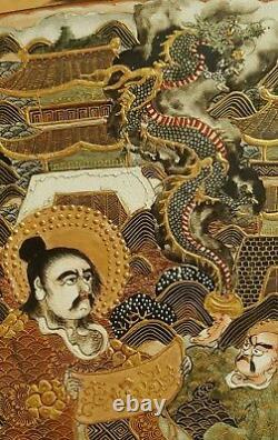 Pair of Satsuma Vases 1835 Tenpo Era Choshuzan Chozan Antique Japanese Pottery