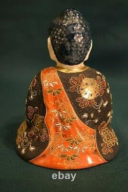 RARE ANTIQUE JAPANESE PORCELAIN KUTANI/SATSUMA Buddha FIGURINE FIGURE
