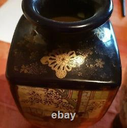 REDUCED Antique early 20th century Japanese Satsuma Vase with Geisha figures