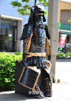 SAMURAI ARMOR YOROI Satsuma Sumimitsu Shinobu All Black Japanese antique withBox