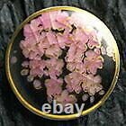 Satsuma Buttons Japanese Vintage Diameter 25mm×H 8mm Pottery Weeping cherry